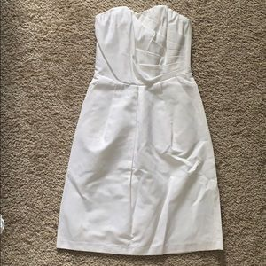 The Limited strapless white dress Size 0